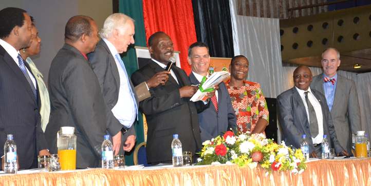 Photo showing the official launch of Zimbabwe's new Health Information System