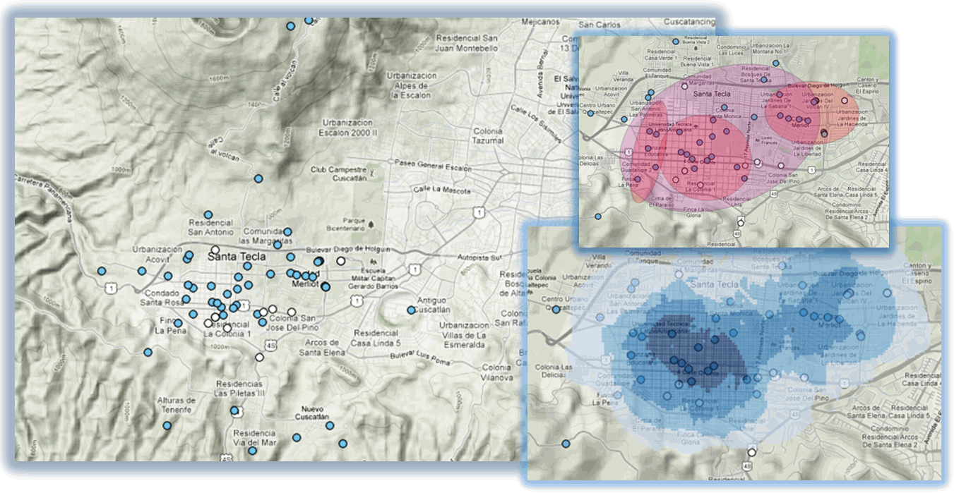 Maps prepared using data provided through the Seguridad Inalámbrica crime reporting system.